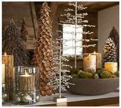 Use a cluster of small trees on a table, instead of one large tree.  Put presents next to table.