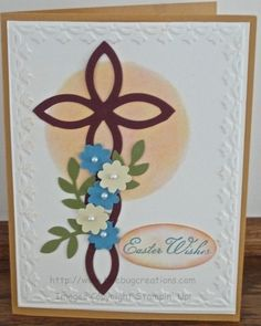 pinterest stampin up lattice die ideas | Stampin' Up! Lattice Deb Hoekstra Easter Cross Big Shot