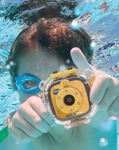 The Kidizoom Action Cam by VTech lets little videographers capture their adventures with videos and photos! The Action Cam is a great first video camera for kids and is durable enough to handle drops and tumbles.