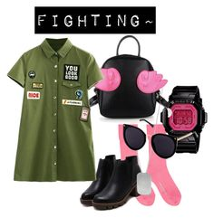"""""""#100 Little Green Angel"""" by jamie-s26 on Polyvore featuring Comme des Garçons, BillyTheTree and Casio"""