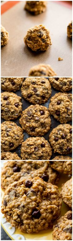 How to make the BEST oatmeal chocolate chip cookies. Easy recipe on sallysbakingaddiction.com