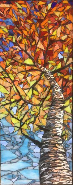 Skyward II Sold Stone Mosaic, Mosaic Glass, Mosaic Tiles, Mosaic Crafts, Mosaic Projects, Botanical Illustration, Watercolor Illustration, Sand Lake, Mandala