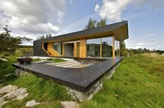 Dalene Cabin by Tommie Wilhelmsen  -The interior is just as interesting as the exterior