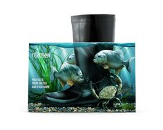 Fisherman Rubber Boots packaging by Good Media.