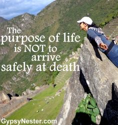 Motivational Fitness Quotes QUOTATION – Image : Quotes Of the day – Description The purpose of life is not to arrive safely at death. Sharing is Caring – Don't forget to share this quote ! Top Quotes, Quotes To Live By, Life Quotes, Daily Quotes, Funny Inspirational Quotes, Meaningful Quotes, Motivational, Erma Bombeck Quotes, Citizen Science