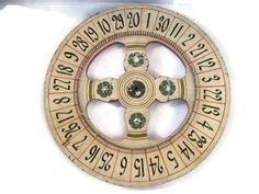 Vintage Roulette Wheel Wood Full Size  Statement Piece by Relic189, $380.00