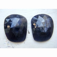 Rose Cut Sapphire Blue Sapphire Matched Pairs by gemsforjewels, $75.70