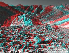mars : image stereoscopique, anaglyphe
