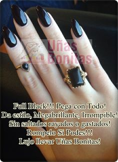 Full Black!!!! Pega Con Todo! Da Estilo, MegaBrillante e Irrompible! Sin Saltados Rayados o Gastados! Rompelo Si Podes! Lujo Llevar Uñas Bonitas!
