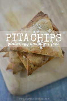 #Gluten-Free, #Nut-Free, #Vegan Pita Chips