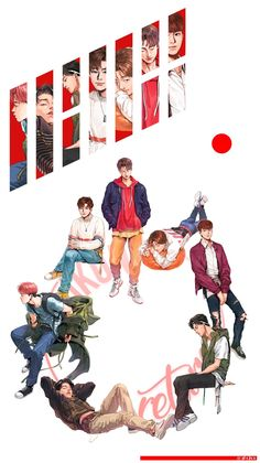 Pin by 리사🌠 on ikon (아이콘) Ikon Kpop, Chanwoo Ikon, Kim Hanbin, Ikon Wallpaper, Screen Wallpaper, Ikon Member, Ikon Debut, My Bebe, Kpop Drawings