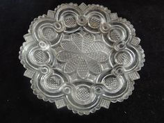 "EAPG sandwich flint pressed glass cup plate 6"" wide  picclick.com Flint Glass, Pressed Glass, Glass Collection, Rosettes, Plates, Dishes, Art, Licence Plates, Art Background"