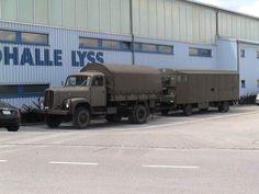 Old Trucks, Military Vehicles, Recreational Vehicles, Transportation, Switzerland, Vintage, Bern, Swiss Army, Big Tractors