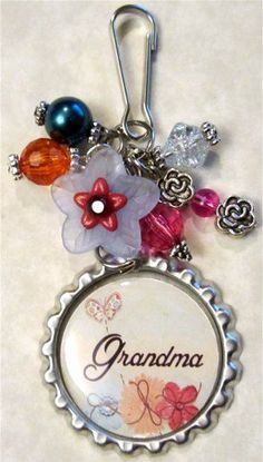 Grandma -  Purse Charm or Zipper Pull - 5.00
