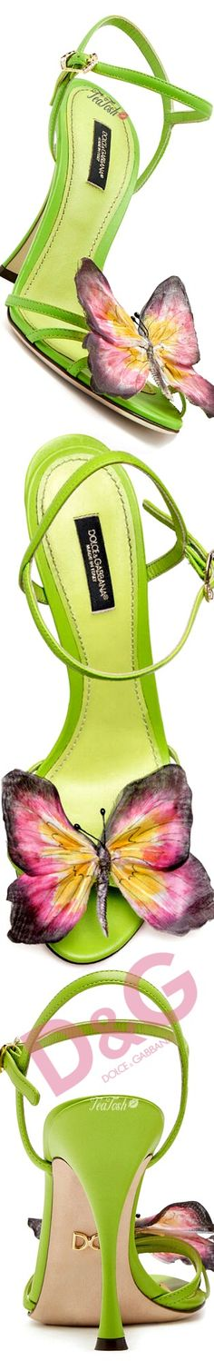 ❈Téa Tosh❈ #DolceGabbana #teatosh NAPPA LEATHER SANDALS WITH BUTTERFLY APPLIQUÉ Madame Butterfly, Butterfly Frame, Butterfly Kisses, Shades Of Green, Pink And Green, Happy Summer, Leather Sandals, Designer Shoes, Shoe Boots