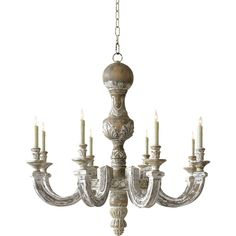 Visual Comfort Alexa Hampton Dexter Large Chandelier in Belgian White AH5026BW