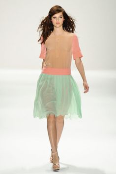 Pretty pastels, sheers, scalloped edges and heels!