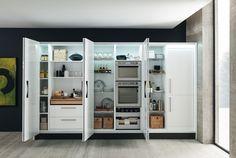 Marina 3.0 - Fitted Kitchens - Kitchens - Febal Casa Larder Cupboard, Kitchen Cupboard Doors, Butler Pantry, Bathroom Medicine Cabinet, Countertops, Locker Storage, Interior Decorating, House, Furniture
