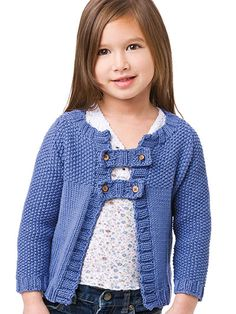 Sassy Seed Stitch Knitting Pattern Download from e-PatternsCentral.com -- Button tabs add a playful touch to this easy-to-knit cardigan.