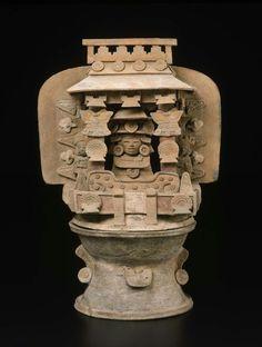 Incense burner base Teotihuacan , A.D. 350–550. -1