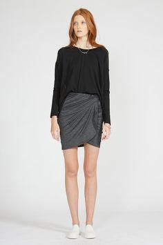taken skirt - skirts : shop online • m o o c h i - Nylon Spandex charc marle