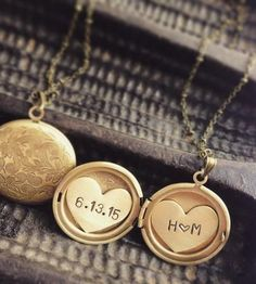 Custom Initials & Date Locket Necklace by Sora Designs on Scoutmob Shoppe