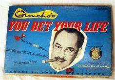 You Bet Your Life, 1955 Groucho Marx game also watched the tv show