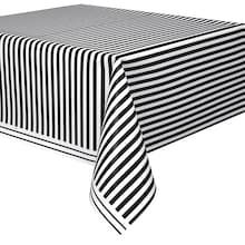 Small Black And White Popcorn Boxes 8ct Black And White Tablecloth Striped Table Plastic Table Covers