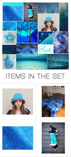 """I Love Blue!"" by crystalglowdesign ❤ liked on Polyvore featuring art"