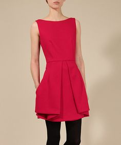 Take a look at this Louche Red Jasmine Dress on zulily today!
