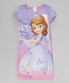 Another great find on #zulily! Purple & Pink Sofia the First Nightgown - Girls #zulilyfinds
