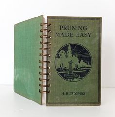 Gardening Journal  Pruning Notebook Upcycled by peonyandthistle, £22.00