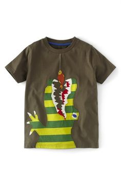 Mini Boden 'Big Appliqué' Short Sleeve T-Shirt (Toddler Boys, Little Boys & Big Boys) available at #Nordstrom