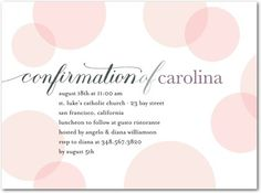 Confirmation Invitations in Chenille   Tiny Prints