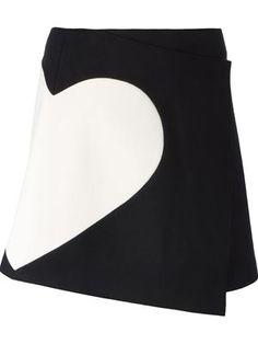 heart panel wrap skirt. MSGM. Love! Love! Love!