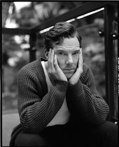 Benedict Cumberbatch, a guy who can look intense and soft and cute, all at once.