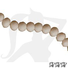 Lot de 10 perles rondelle à facettes cristal de bohème opaque 6 x 4mm - 1€