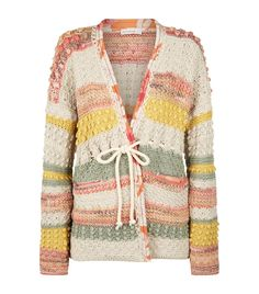 Harrods, designer clothing, luxury gifts and fashion accessories Etro Crochet Cardigan Loom Knitting, Knitting Patterns, Crochet Patterns, Crochet Cardigan, Knit Crochet, Knit Picks, Crochet Fashion, Crochet Clothes, Crochet Projects