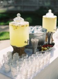 Vintage lemonade station