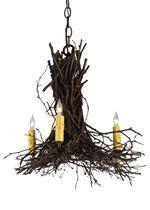 Large Twig Chandeliers Brancheliers #twigchandelier #logcabin