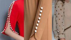 Latest Sleeves Designs For Kurti 2019 Full Sleeves Design, Kurti Sleeves Design, Kurta Neck Design, Sleeves Designs For Dresses, Fancy Blouse Designs, Blouse Neck Designs, Designer Salwar Kameez, Designer Kurtis, Silk Kurti Designs