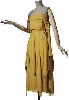 1920 Madeleine Vionnet Evening Dress (crepe and chiffon