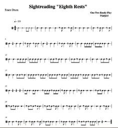 Printables Sight Reading Worksheets band reading and exercise on pinterest sight exercises 2 orchestra percussion