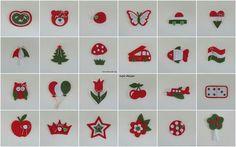 Kindergarten signals in Hungarian national colors (noja design) Bird Crafts, Diy And Crafts, Baba Marta, Spring Crafts For Kids, Republic Day, Independence Day, Kindergarten, Origami, Cross Stitch