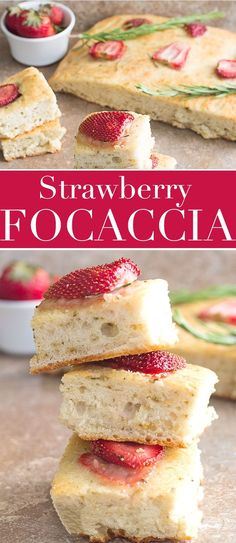 Quick and easy Strawberry Focaccia bread makes the perfect snack or breakfast. It calls  for only a few ingredients and topped with delicious maple glazed Florida Strawberries.   bread, sandwich, summer recipes, sweet bread