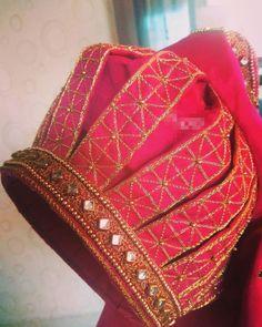 Saree Jacket Designs, Cutwork Blouse Designs, Simple Blouse Designs, Stylish Blouse Design, Bridal Blouse Designs, Blouse Neck Designs, Sleeves Designs For Dresses, Sleeve Designs, Traditional Blouse Designs