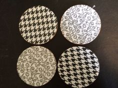 Set of 4 Black & White coasters