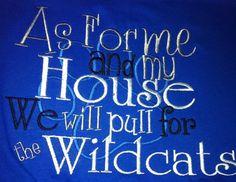 University of Kentucky applique UK tshirt. $15.00, via Etsy.