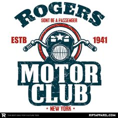 ''Rogers Motor Club'' by Piercek25 available today only, 12/17/15, at RIPT Apparel