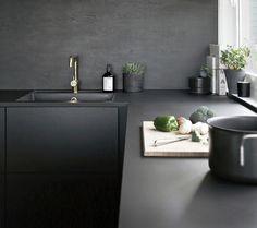 Cozinha preto e masculino